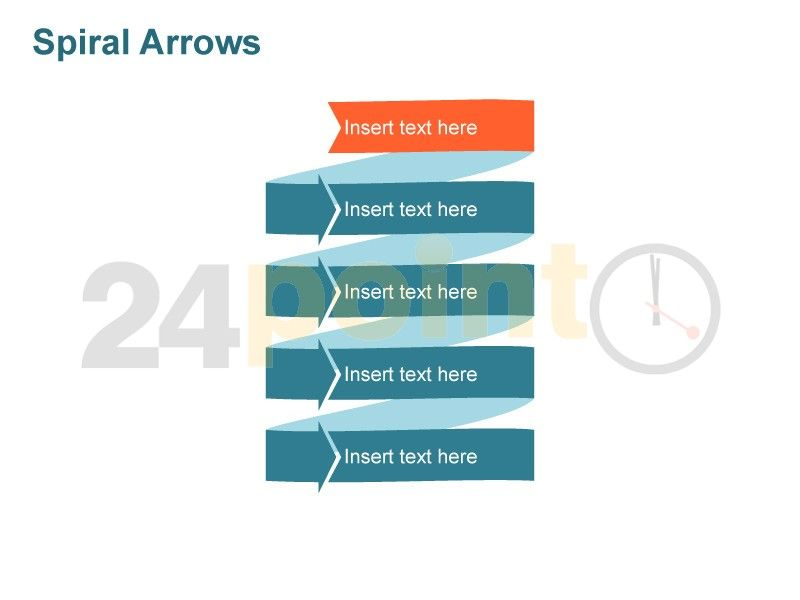 Editable PowerPoint Template - Spiral Arrows    www24point0 - powerpoint calendar template