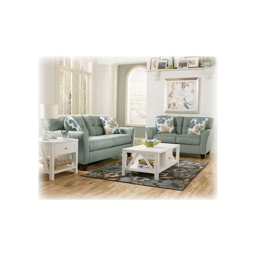 kylee lagoon living room set furniture signature design kylee lagoon loveseat 18787