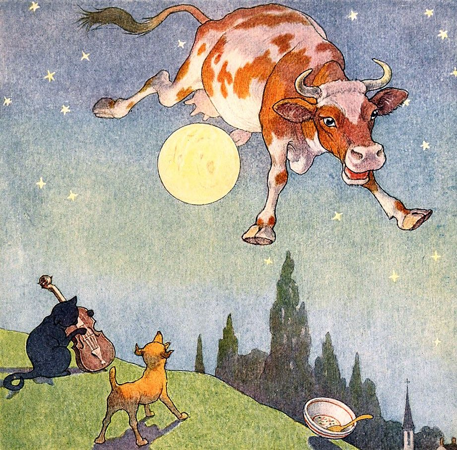 """Hie! diddle, diddle, / The cat and the fiddle, … From """"The"""