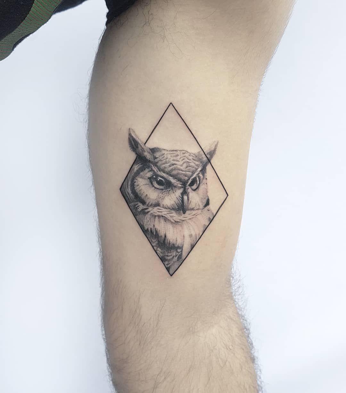 Little Owl Mens Owl Tattoo Neck Tattoo Owl Tattoo Small