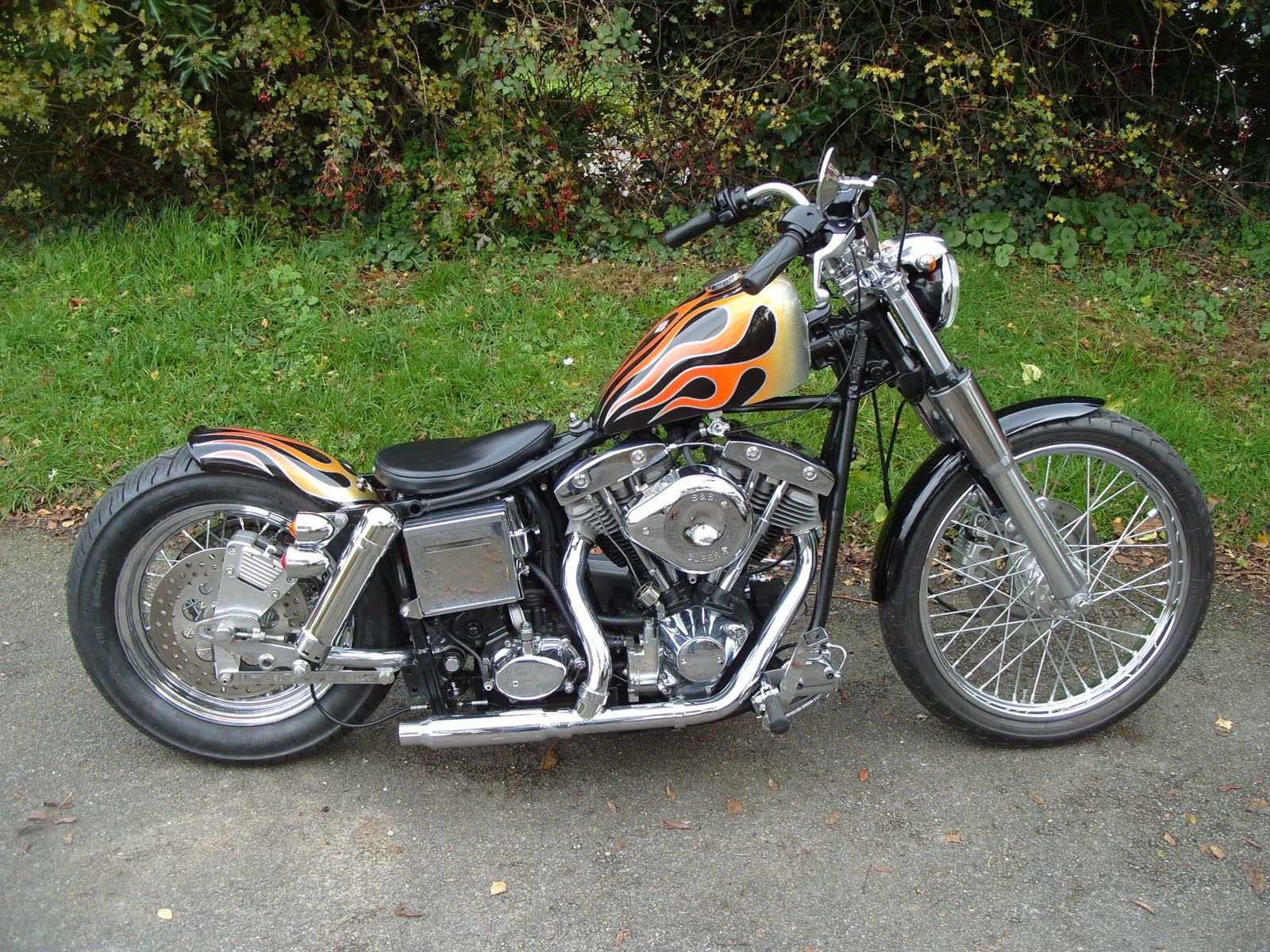 shovelhead swingarm bobbers and choppers old stf cycle. Black Bedroom Furniture Sets. Home Design Ideas