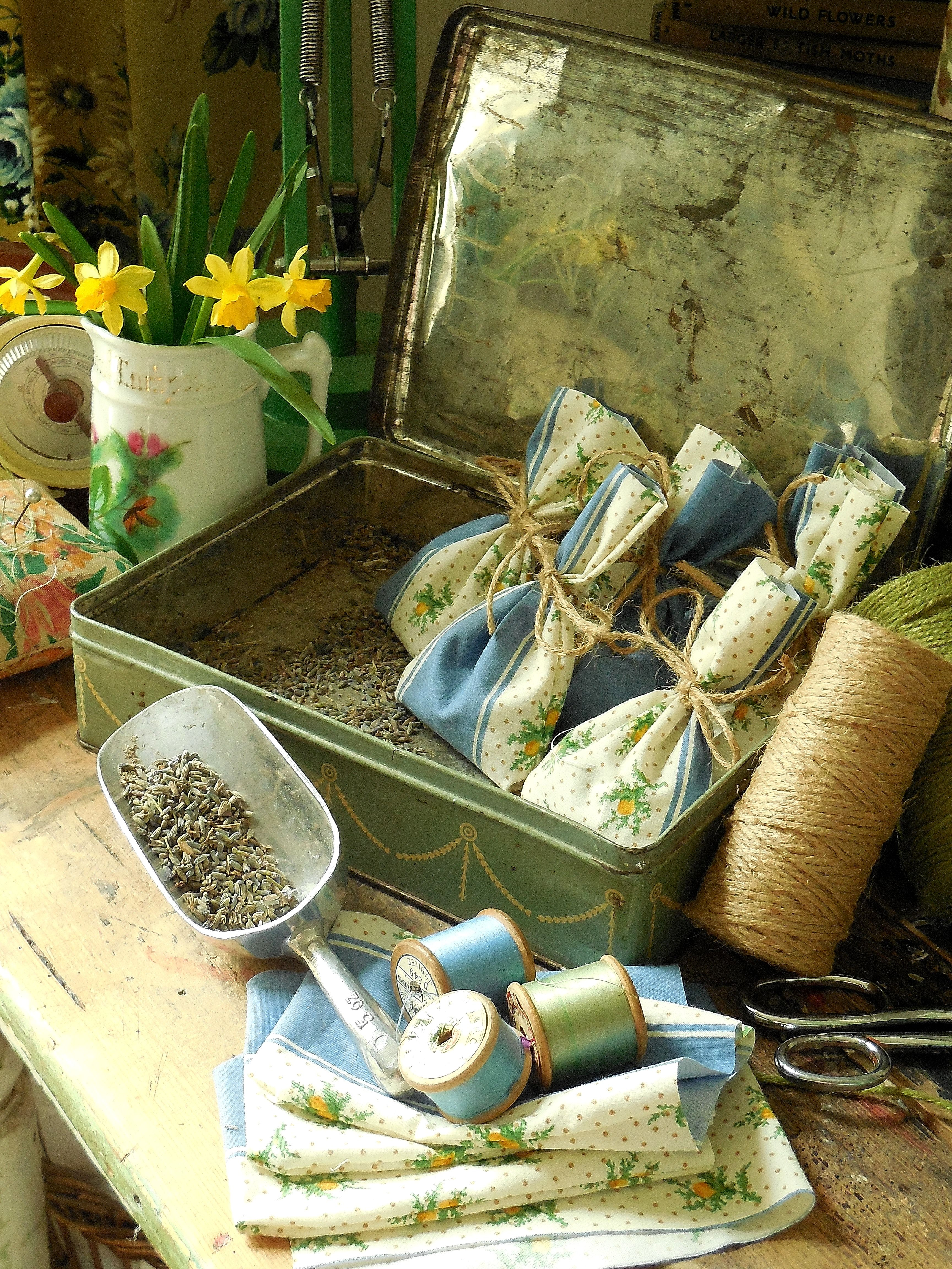 Making lavender bags