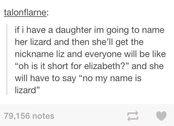 I Am Gonna Name My Daughter Lizard Funny Tumblr Funny Just For Laughs