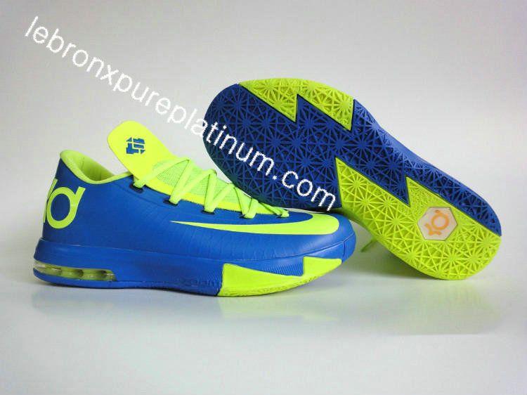Buy Online 2015 Nike KD VI 6 Cheap sale Sport Green Blue Red Gre