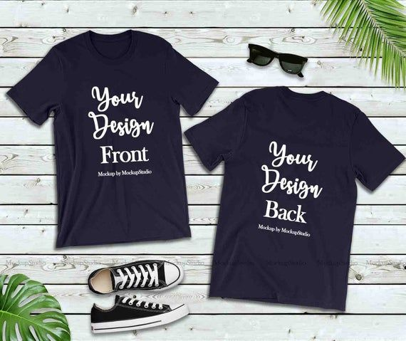 Download Free Navy Front Back T Shirt Mockup Double Side Blank Psd Free Psd Mockups Mockup Free Psd Shirt Mockup Free Packaging Mockup