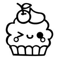 Kawaii Cupcake Wink Kawaii Drawings Cute Coloring Pages Cute Kawaii Drawings