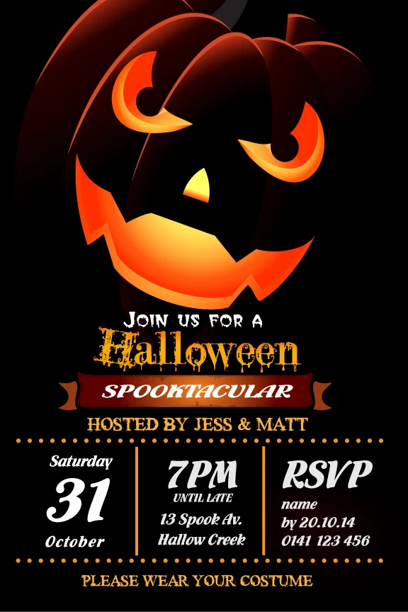 Spooktacular in 2020 Halloween party invitations