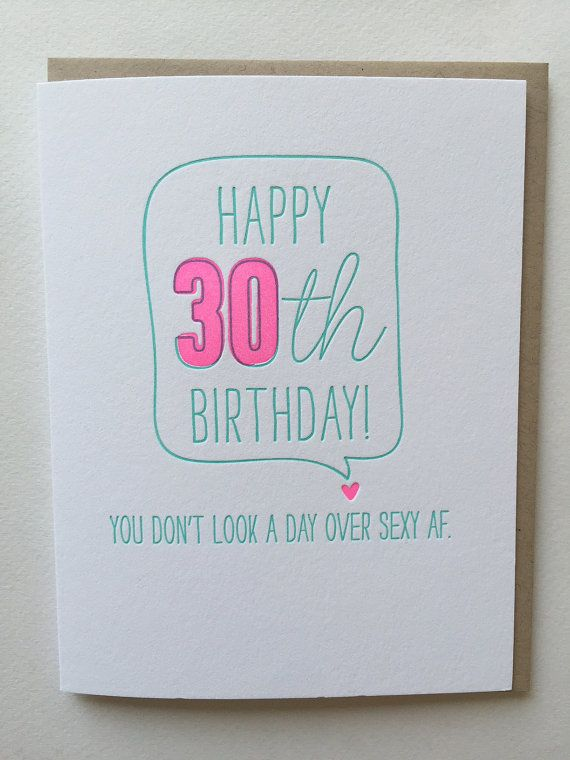30th birthday card funny card for 30th birthday letterpress 30th