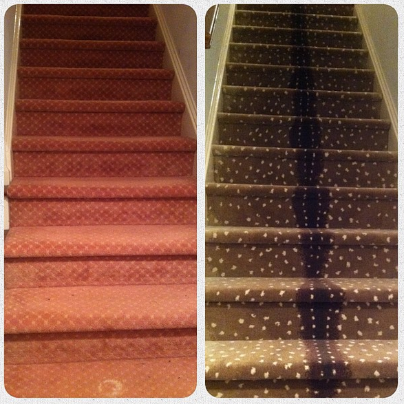 Best Before After Carpeted Stairs Go From Dingy To Trendy 400 x 300