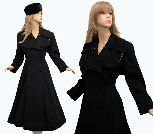 1940 | Black Wool Fit and Flare Coat | 1940 | Total Utilisation ...