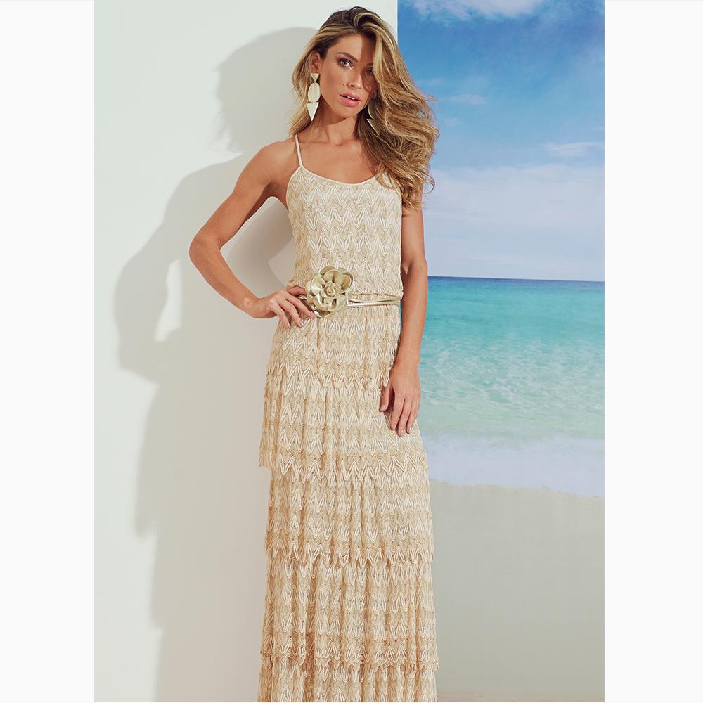 Um 'long dress' ultra charmoso para você desfilar exuberante essa noite, que tal?!#reginasalomao #SS17 #TropicalVibesRS