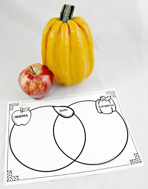 Pumpkins Vs Apples Venn Diagram School Pinterest