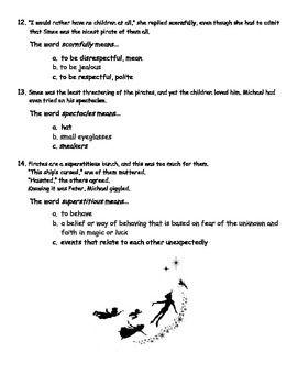 Peter Pan Vocabulary Quiz (Chapters 14-17)   school work