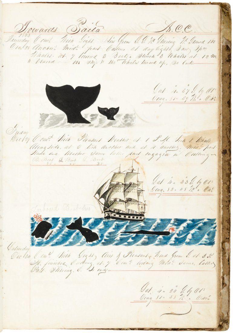 Whaling Journal by Aaron C. Cushman, 1842-1845