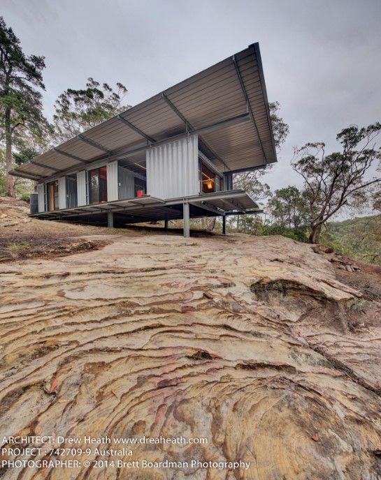 Drew Heath Outpost 742709-9 Container Retreat container architecture - copy blueprint homes wa australia