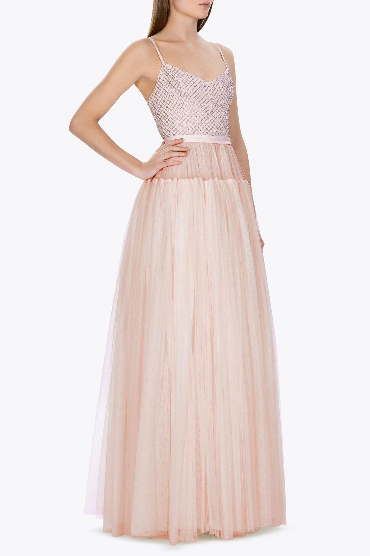 BRIDAL BLUSH VOLUMINOUS MAXI DRESS