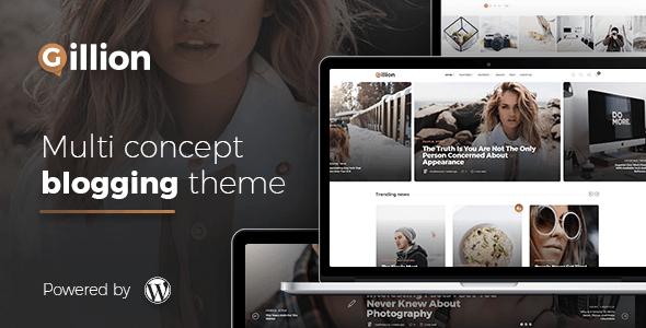 Gillion Multi-Concept Magazine, News, Review WordPress Theme