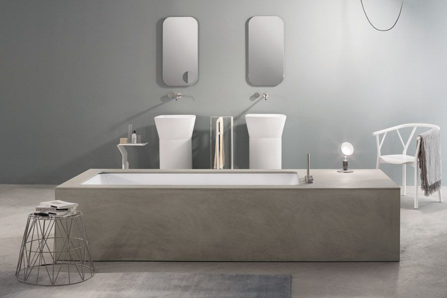 Unclad Undermount Bathtub Wave Arredamento Bagno Vasca Da