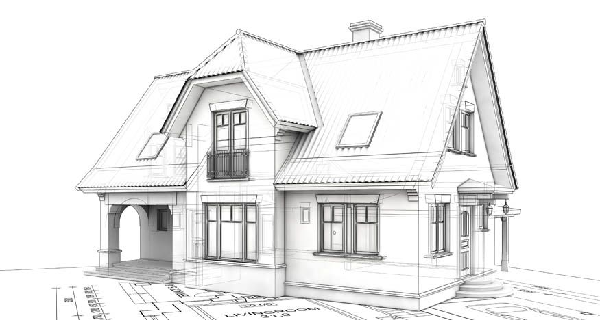 Sketch House Houses And Gardens In 2019 House Sketch House