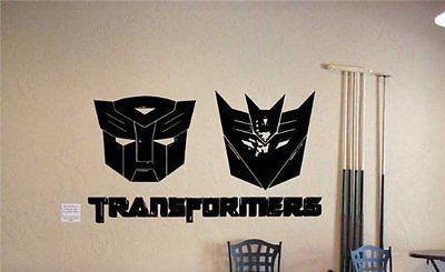 autobots vs decepticons transformers logo emblem wall art sticker