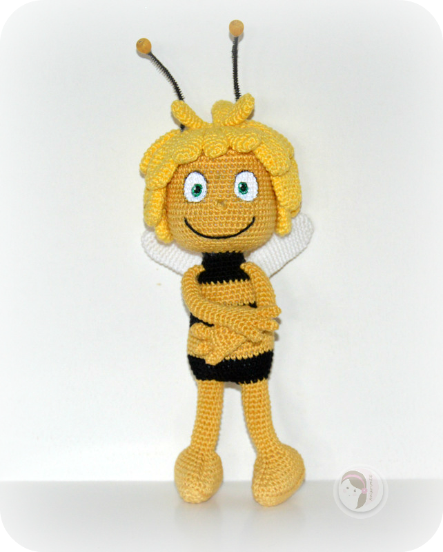 Amigurumi Basic Doll Pattern : Maya the Bee free pattern by AmigurumiBB AmigurumiBB ...
