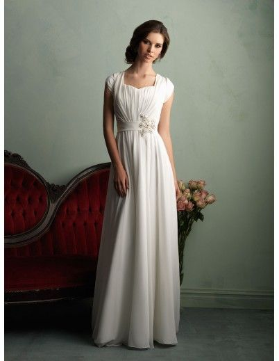 Allure Modest Wedding Dress M523 Modest Wedding Dress :: Margene's Bridal