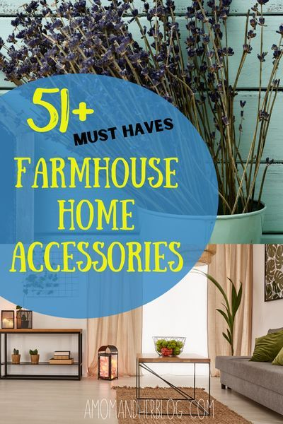 51+ Must Have Farmhouse Home Accessories and home decor ideas. #homedecor #homeaccessories #shoppinglist #homeaccents