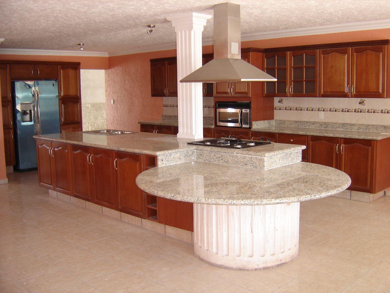 Cocina en granito blanco kashmir cocinas pinterest - Muebles de cocina modernos fotos ...