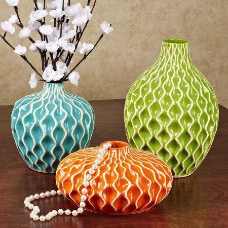 Argelia Honeycomb Table Vase Set Multi Bright Set of Three $85.99