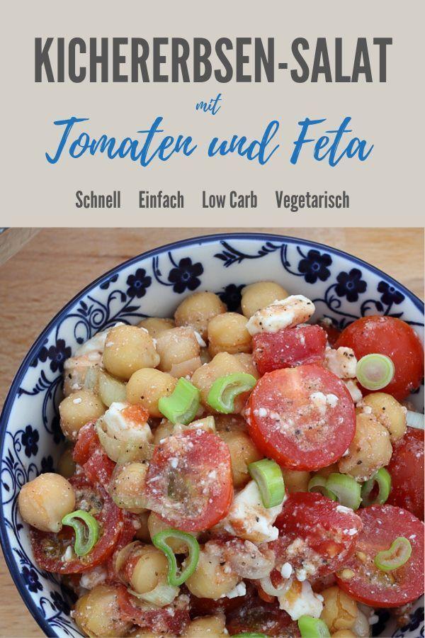 Kichererbsensalat mit Tomaten und Feta - frech mit GetFit Fitness, #Feta #Fitness #frech #GetFit #Ki...