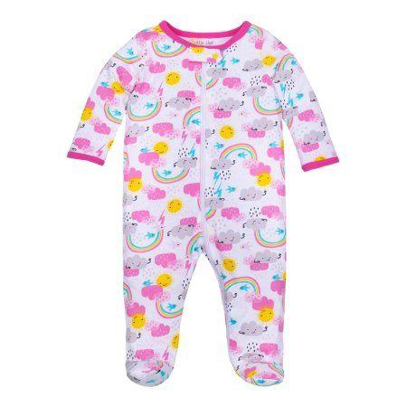839aef635 Little Star Organic Baby Girl Sleep 'N Play, White   Products   Baby ...