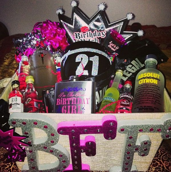 The Basket I Made My Bestfriend For Her 21st Birthday