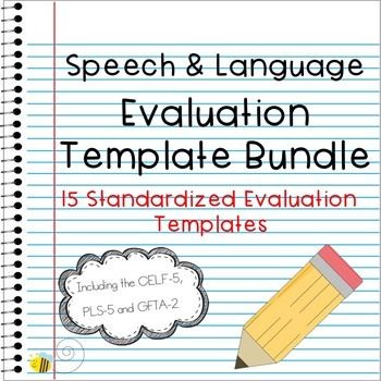 This bundle includes templates for 15 different assessment - evaluation template