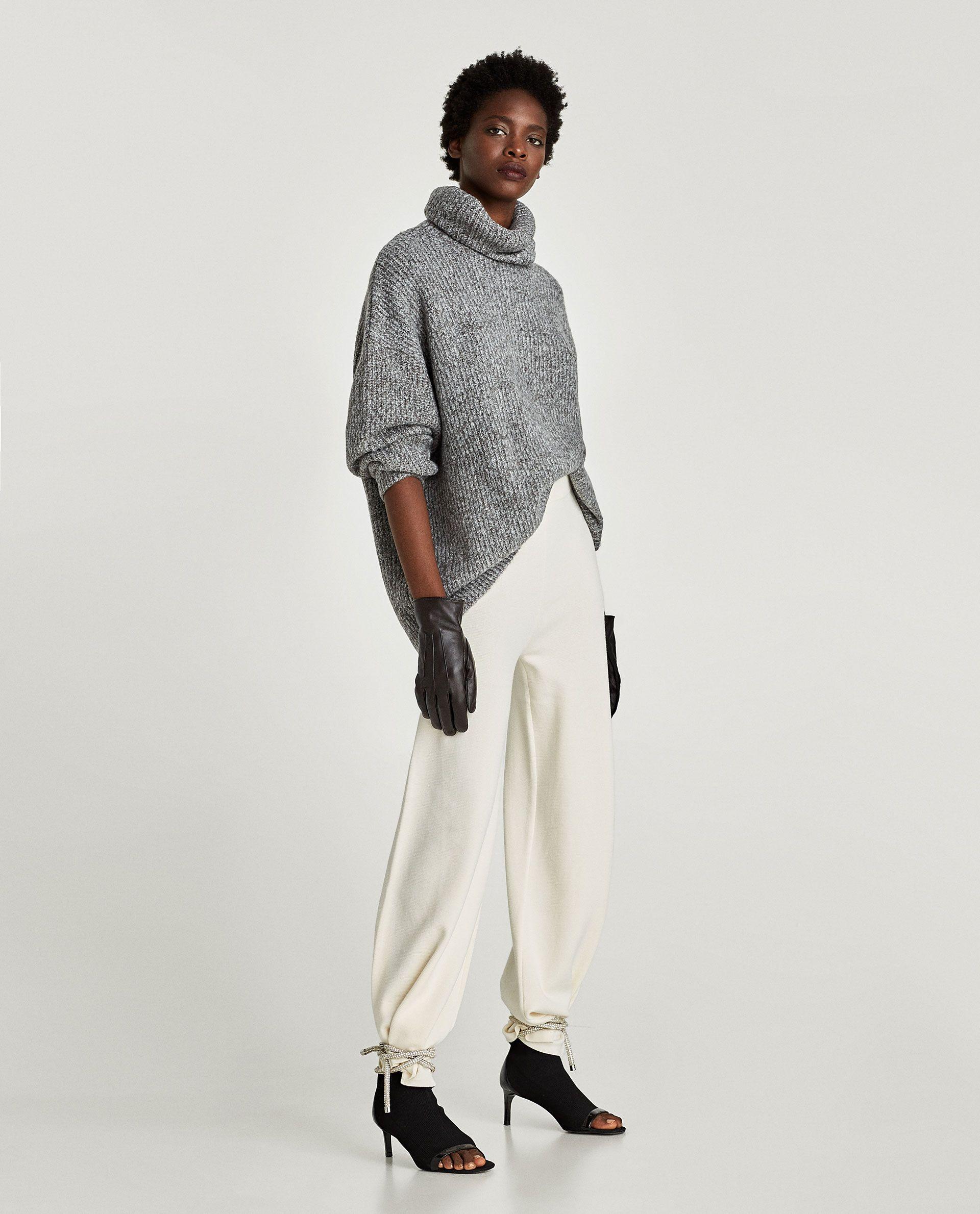 ottenere a buon mercato 6f698 0bfbb Immagine 1 di MAGLIA OVERSIZE COLLO ALTO di Zara   moda ...