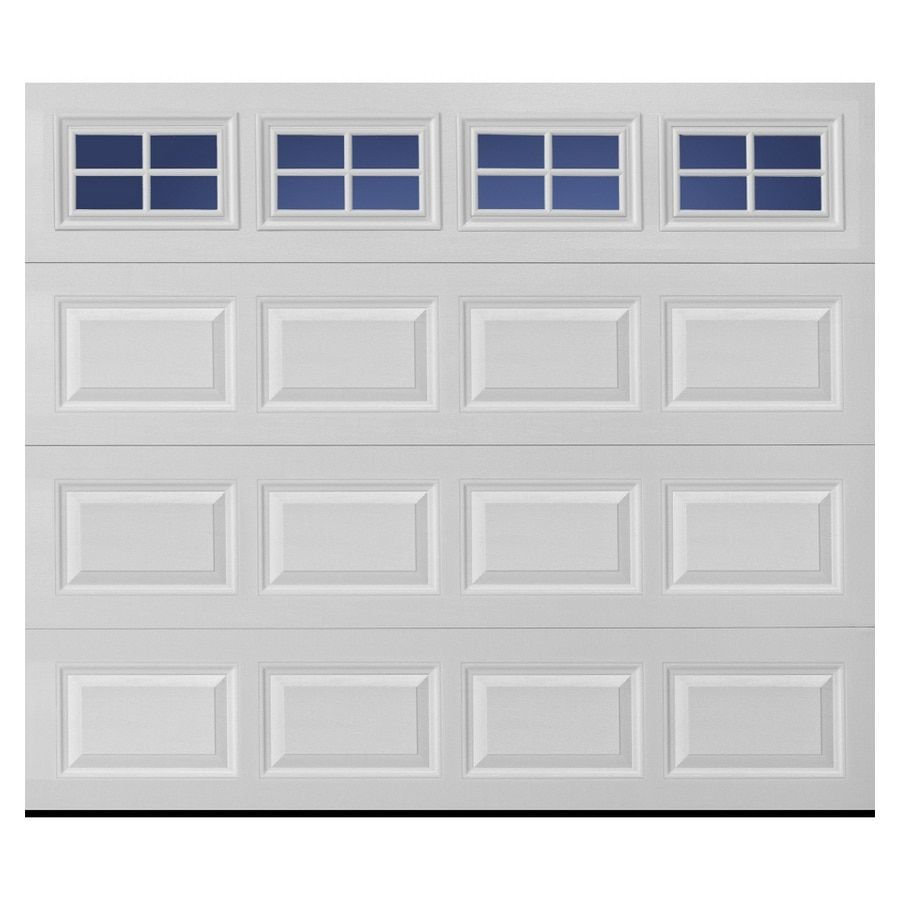 Pella Traditional 108 In X 84 In Insulated White Single Garage Door With Windows Best Quality Fo White Garage Doors Single Garage Door Garage Door Installation