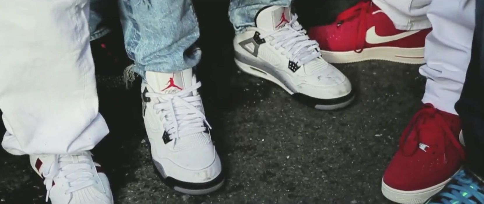 Air Jordan Iv White Cement Shoes, Nike Shoes And Adidas Shell Toe Shoes In  Maan