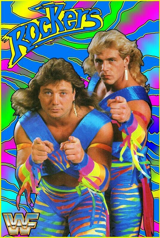 The Rockers: Marty Jannetty/Shawn Michaels | Wrestling posters, Wwf  superstars, Wrestling superstars
