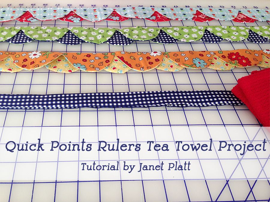 Learn to make an adorable tea towel embellished with the Quick Points Scallop Ruler - Video Tutorial