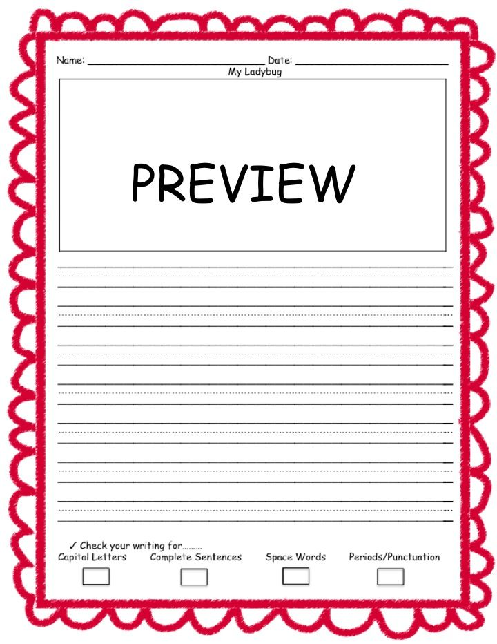 Draw \ Write Using Prompts primary lined writing paper Writing - lined writing paper