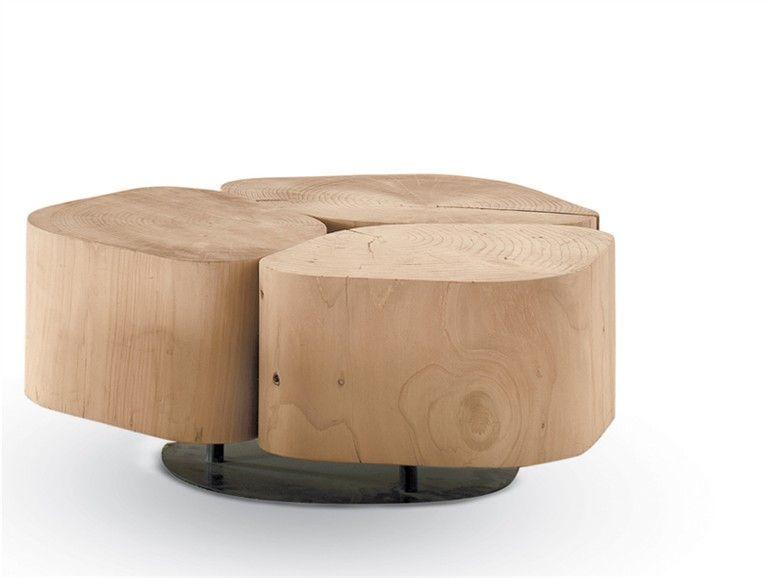 Niedriger Couchtisch aus Holz TOBI3 Kollektion Tobi by Riva 1920 | Design Terry Dwan