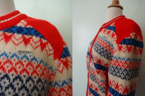 Vintage Australian Geiger Sweater by KittyHawVintage on Etsy, $32.00