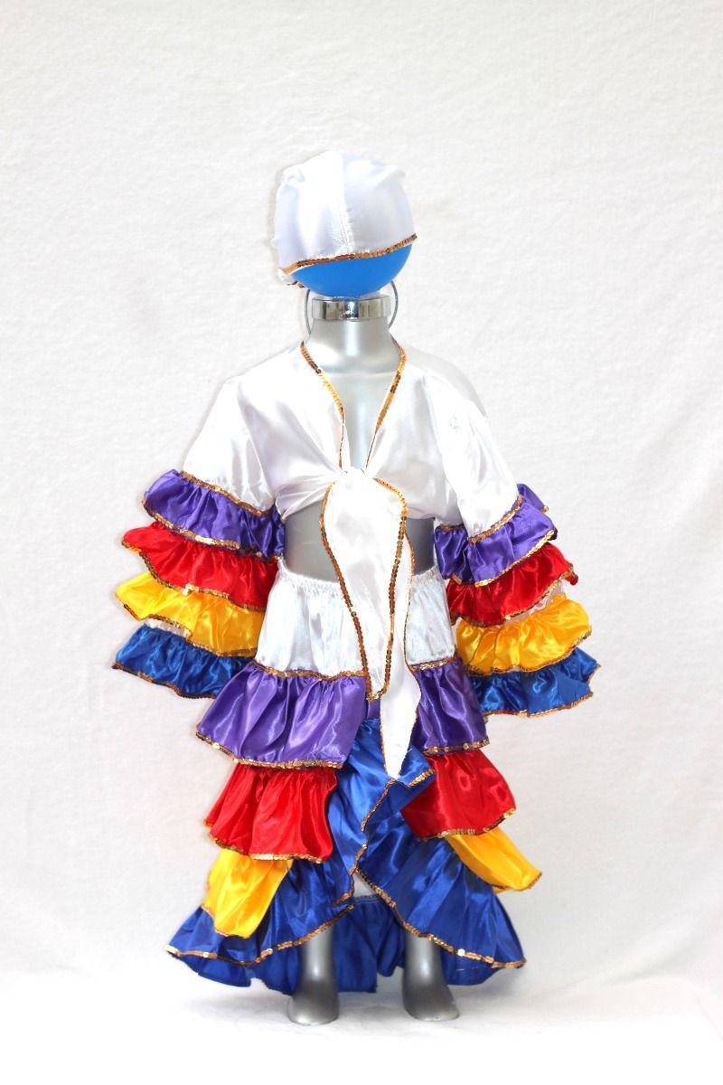 cb7bba6559b9d Disfraz De Rumbera Rumbero De Satin Colores Cuba Brasil -   325.00 ...