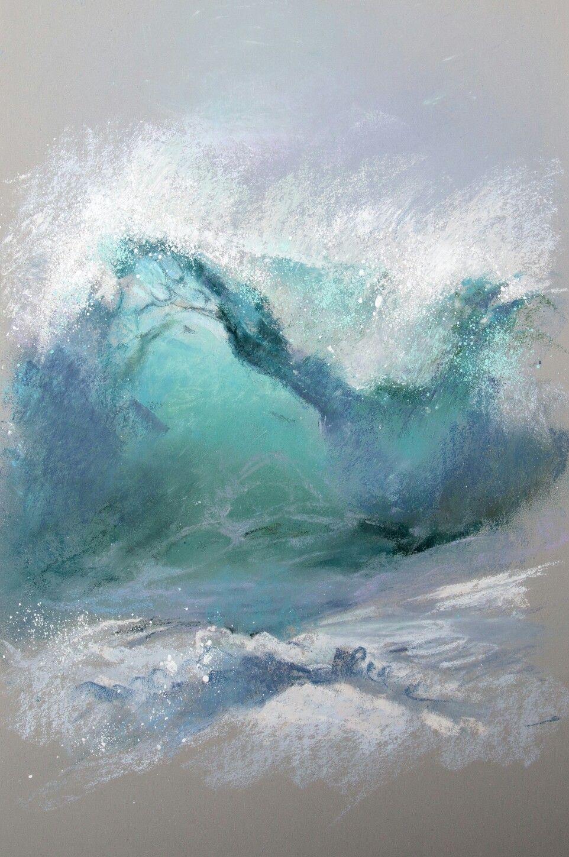 Volna Leny Abstract Art Pastel Painting Ocean Seascapes Art Ocean Painting Seascape Paintings