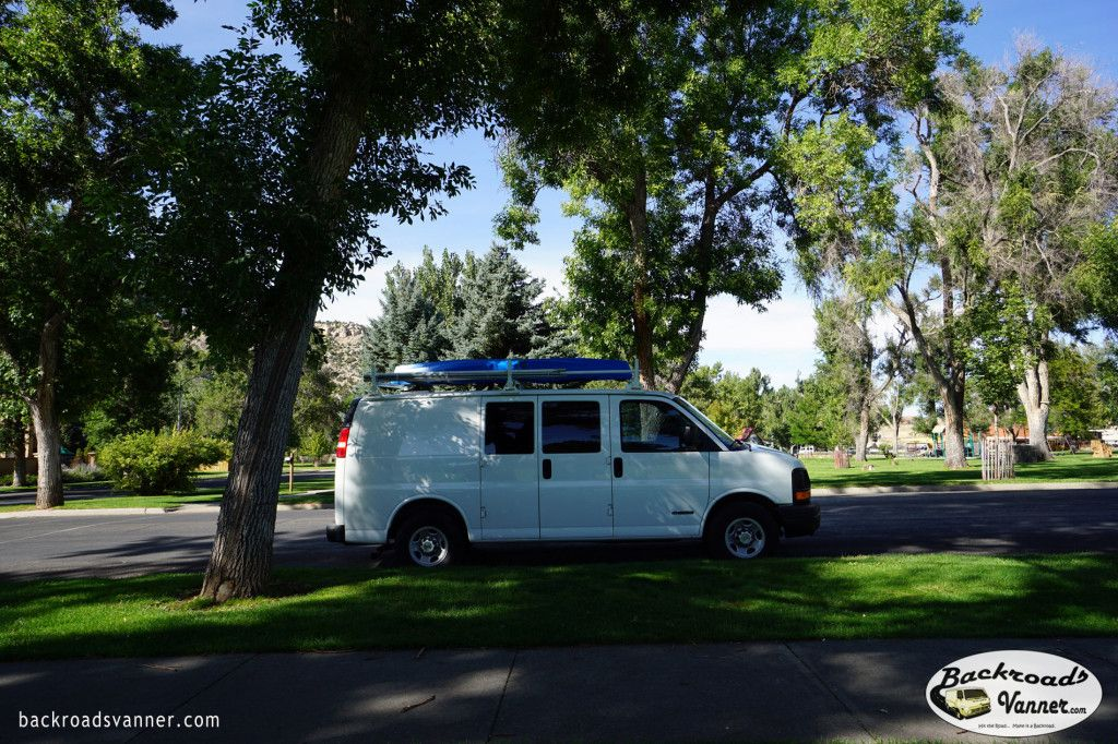 Our solar/mobile office set up. Here's one of the cool places we've set up shop on the road… Hot Springs State Park in Thermopolis, Wyoming. #SolarPower #VanLife #DigitalNomad
