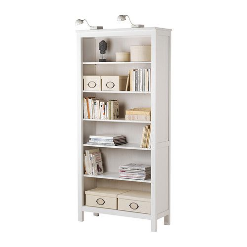 Hemnes bookcase ikea solid wood gives a natural feel 4 for Ikea wooden bookshelf