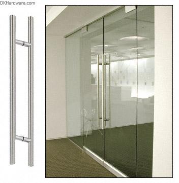 Crl Brushed Stainless 24 Extra Length Ladder Style Back To Back Pull Dkhardware Shower Door Handles Commercial Glass Doors Shower Doors