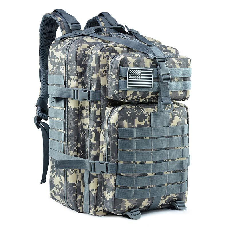 Details about  /Tactical Army Style Backpack 50 L Outdoor Hiking Trekking Camping Backpacks