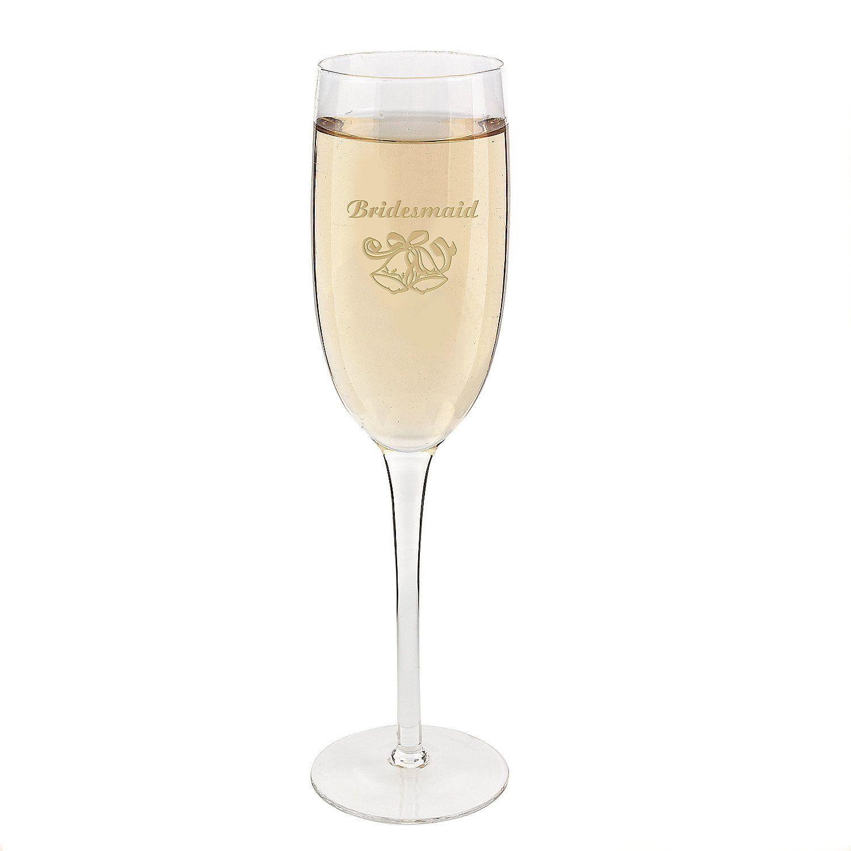 Bridesmaid\'s Wedding Champagne Flute | Wedding champagne flutes ...