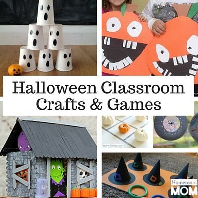 Halloween Crafts & Games for the Classroom | Halloween class party ...
