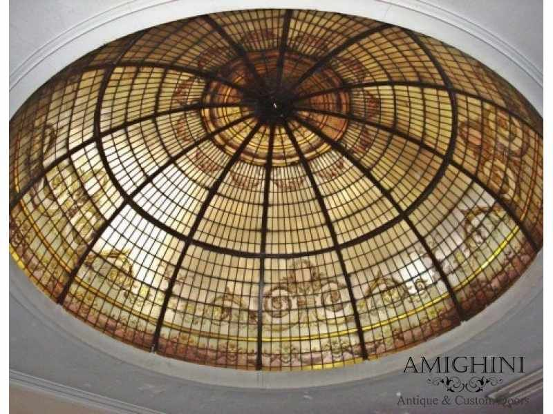 Antique Stained Gl Dome Skylight